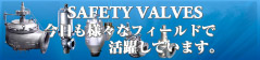 FUKUI SAFETY VALVE Contribution in Various Fields
